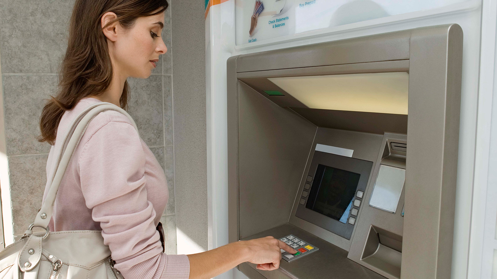 Woman in ATM