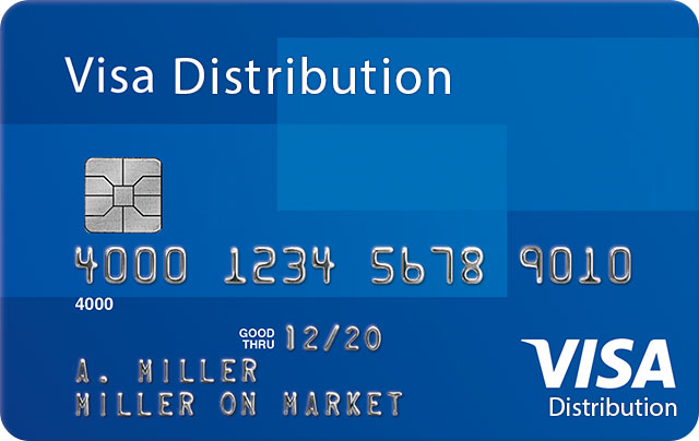 Visa Distribution Card